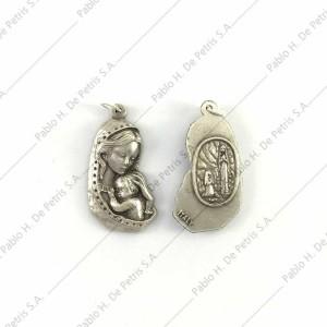3302 - Medalla Virgen con Niño - Virgen de Lourdes