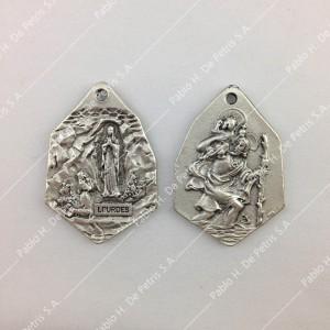 Medalla Virgen de Lourdes - San Cristóbal