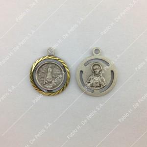 Medalla Virgen de Fátima - Sagrado Corazón
