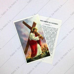 Estampa Jesús camino al calvario