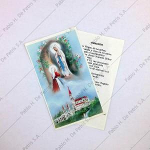 Estampa Virgen de Lourdes con Bernardita