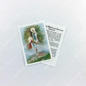 0804 - 1/2 Estampa Virgen de Lourdes con Bernardita
