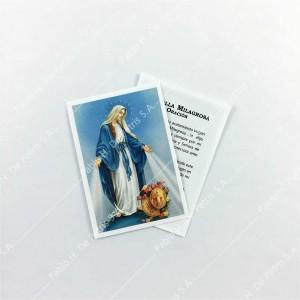 0804 - 1/2 Estampa Virgen de la Medala Milagrosa