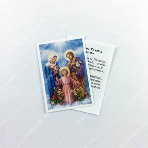 0804 - 1/2 Estampa Sagrada Familia