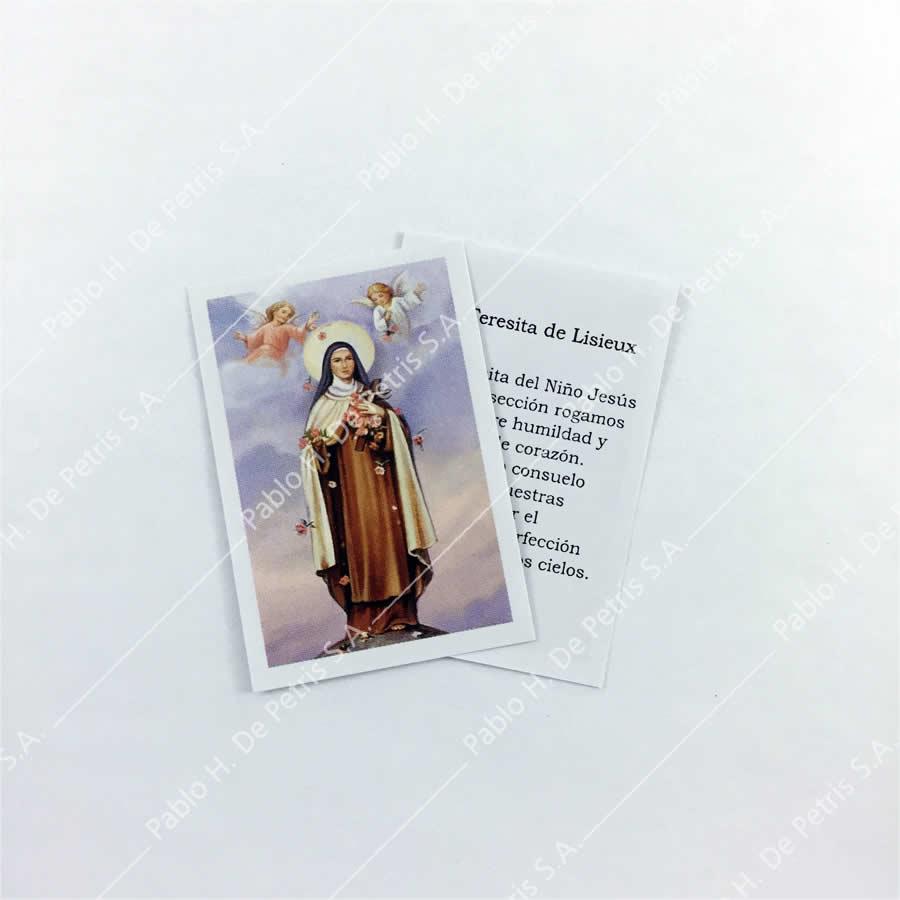 0804 - 1/2 Estampa Santa Teresita de Lisieux
