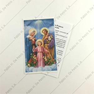 0803 - Estampa Sagrada Familia