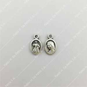 3690- Medalla Jesús Misericordioso - Virgen María